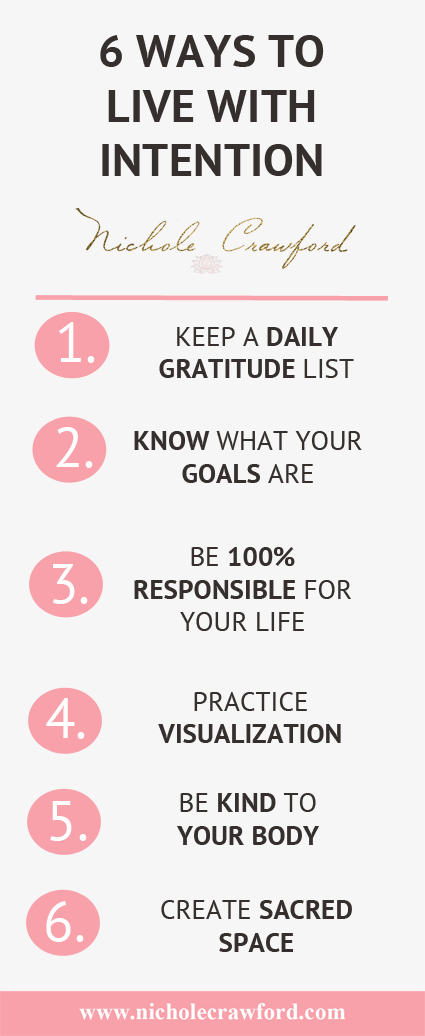 6 Ways to Live With Intention